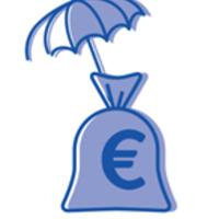 parapluie au dessus d'un sac d'euros